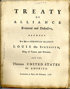 The Franco-American Treaty of Alliance, February 6, 1779