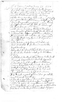 Town meeting record, Beverly, Massachusetts, recording the election of a representative to the legislature