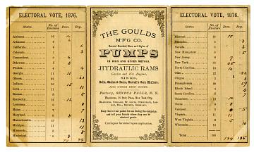 Tally sheet, 1876