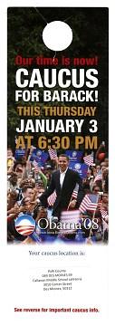 Obama campaign door hanger, 2008