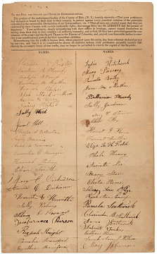 Petition sent to Congress during the 1830s