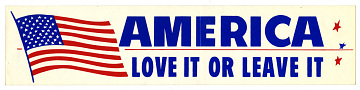 Bumper sticker, 1970s