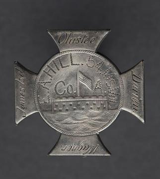 Badge, E. A. Hill, 54thMassachusetts Infantry