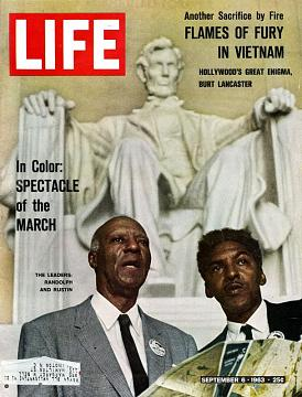 Life magazine with Randolph and Rustin on cover (National Museum of American History)