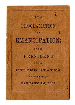 Reading Copy of the Emancipation Proclamation (Front Cover)
