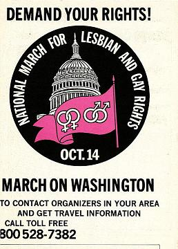 Gay and Lesbian Rights Protest Sign