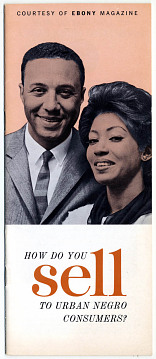 "Brochure, ""How do you sell to urban negro consumers?"" about 1960"