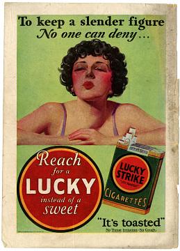 Lucky Strike Ad, around 1928