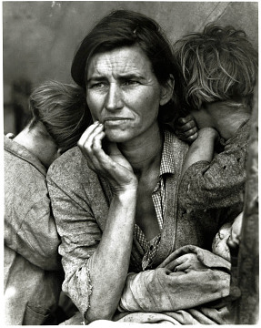 Florence Thompson, migrant laborer, 1936, by Dorothea Lange