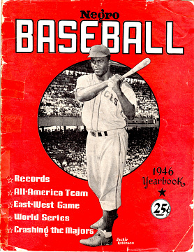 Reproduction of baseball program, 1946