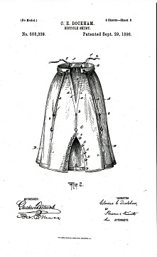 U.S. Patent for a bicycle skirt, 1896