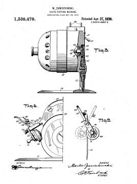 Patent for cloth-cutting machine
