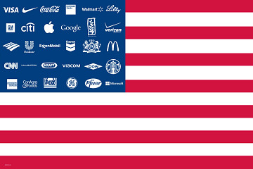 AdBusters Corporate American Flag Brand