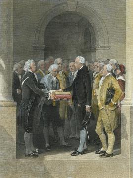 Washington Being Sworn In