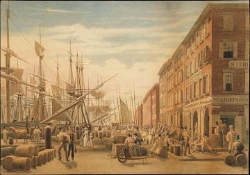 New York Harbor, 1820s