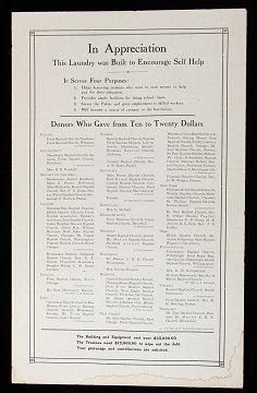 School Donor List, Washington, D.C., Early 20th Century