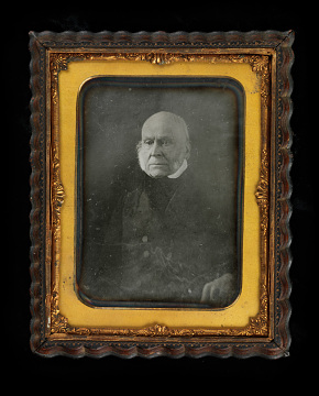 Daguerreotype of John Quincy Adams taken in the 1840s