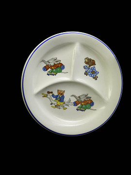Child's plate, 1950s