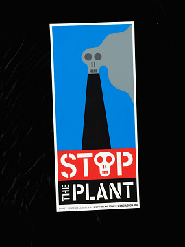 """Stop the Plant"" poster, about 2000"