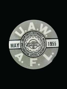United Auto Workers pin, May 1955