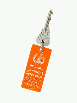 Howard Johnson's hotel keys, 1960s–1970s