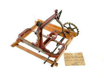 Leander McCormick grain binder patent model, 1879