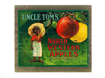 Uncle Tom's North Western Apples Crate Label, about 1900