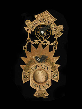 Bicycle racing medal, 1883-1897
