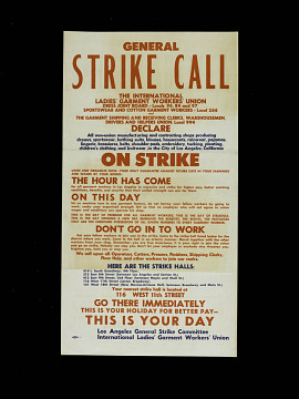 Strike broadside in English