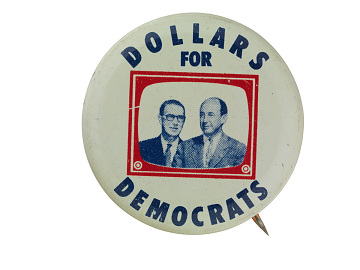 Democratic campaign button