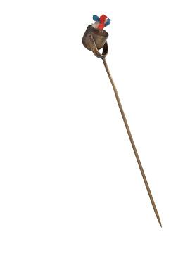 Torchlight stickpin, 1888
