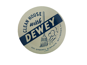 Dewey campaign button, 1948