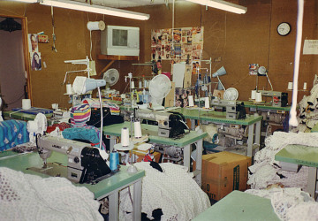 El Monte sweatshop, sewing room, 1995