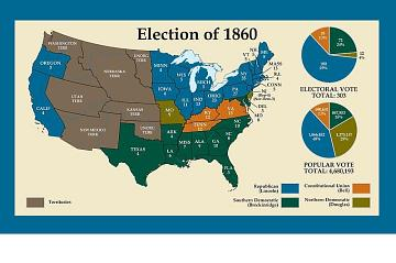 1860 Election Map