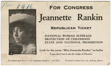 Card from Jeannette Rankin's 1916 congressional race