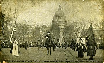 Woman suffrage parade down Pennsylvania Avenue, March 3, 1913