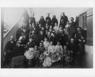 Del Valle family and friends at Rancho Camulos, 1880s