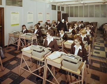Typing Class at St. John Villa Academy, New York, 1975