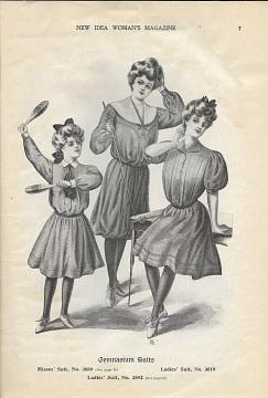 Gymnasium Suits,New Idea Woman's Magazine, 1896–1912