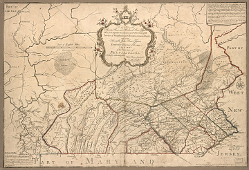 Map of Pennsylvania, by William Scull, 1770