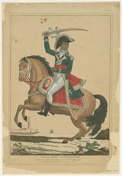 Engraving of Toussaint L'Ouverture, Paris, around 1800