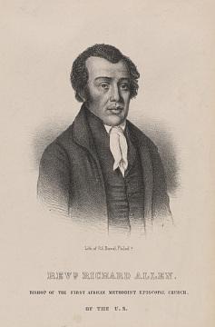 Portrait of Richard Allen, unknown artist, 1784