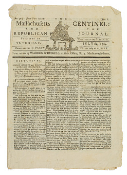 Massachusetts Centinel and Republican Journal, 1784