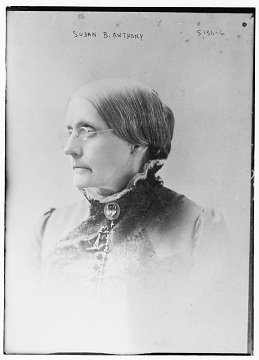 Portrait of Susan B. Anthony, around 1890