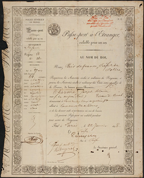 Reproduction of Icarian passport, 1848