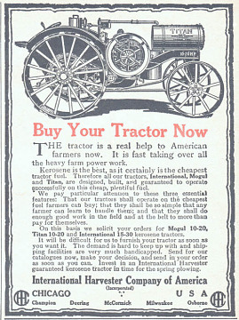 International Harvester ad, 1918