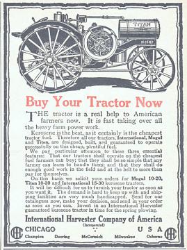 International Harvester ad, 1918