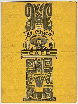 El Chico menu, 1951