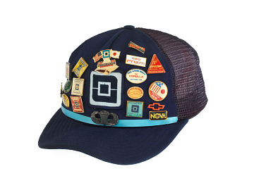 Autoworker's hat, about 1989