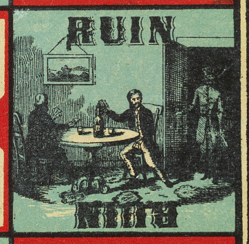 """Ruin"" from the board game ""Game of Life,"" invented 1860"